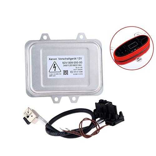 (Aupoko Replacement Xenon HID Ballast Headlight, Control Unit Module for 5DV 009 000-00 & Wiring Harness, Fit for BMW, Mercedes, Cadillac, Jaguar, Volkswagen, Lincoln, Chrysler & More - 6 Year Warranty )