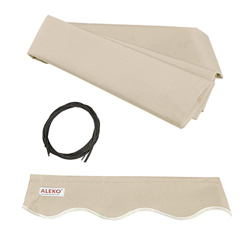 - ALEKO FAB12X10IVORY29 Retractable Awning Fabric Replacement 12 x 10 Feet Ivory