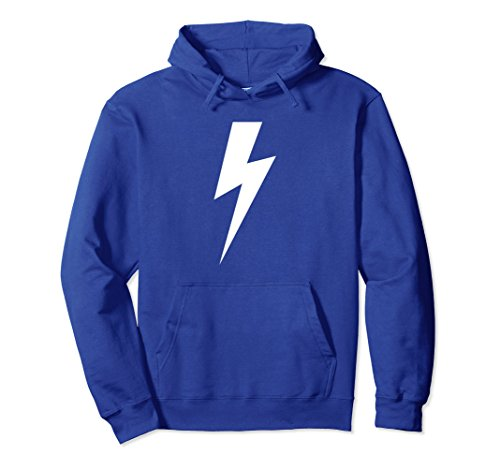 (Unisex Lightning Bolt Hoodie for Men and Women - Hooded Shirt Large Royal Blue)