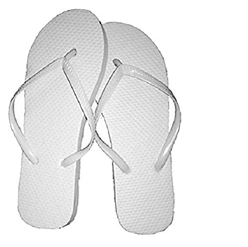 Wholesale Ladies 72 Pairs Solid White Flip Flops (Sandals Women Wholesale Fashion)