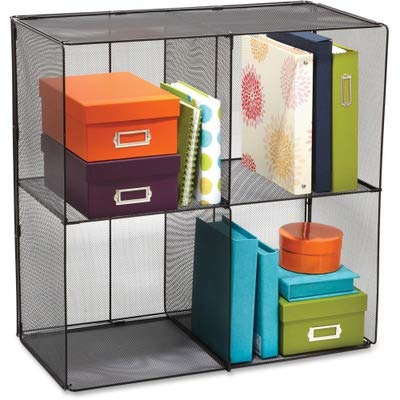 Cube Onyx Black (Safco Products 2172BL Onyx Mesh Cubes for use with Onyx Mesh Cube Bins 2173BL, sold separately, Black)