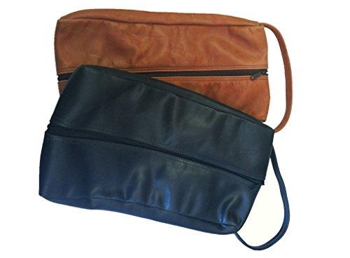 TPK Full Grain Leather Premium Shoe Bag (Ebony Black) by TPK (Image #1)