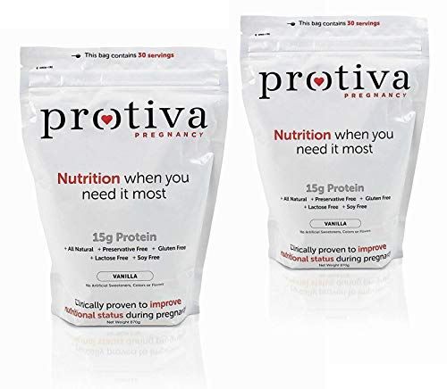 Protiva Pregnancy Prenatal Vitamin Supplement Protein Shake for Pregnant Women, 4Lbs - 60 Servings of Protein Collagen Powder, All Natural, Clinically Proven, OBGYN Approved