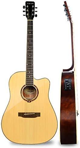 ギター ソリッドウッドベニヤギターナチュラルアコースティックギター 入門 ギター (Color : Natural, Size : 41 inches)