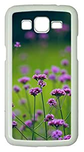 Samsung Galaxy Grand 2 7106 Case and Cover -Natural Purple Flowers Beautiful PC case Cover for Samsung Galaxy Grand 2 7106¨C White