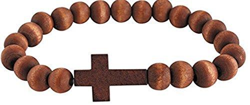 Bracelet Cross Wooden - Lenten Beaded Cross Bracelet Wooden Lent Wood Fashion