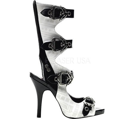 Demonia By Pleaser Donna Zombie-106 Sandalo Bianco Pu