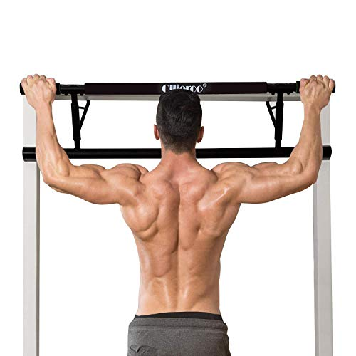 Ollieroo Pull Up Bar Doorway Chin Up Pull Up Bars Multi-Grip Trainer Workout for Home Gym (Black) Review