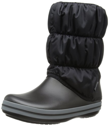 Charcoal Charcoal Donna Nero Puff Stivali Boot Crocs Crocs Black W Winter 6qwFSB8