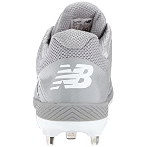 New Balance Men's L4040v4 Metal Baseball Shoe, Grey, 6 D US