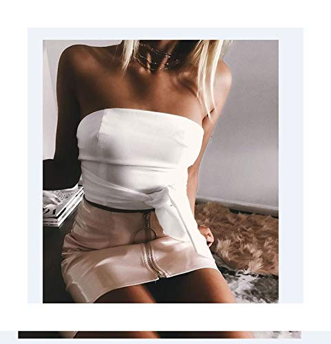 Jade clear Sexy Women Fashion High Waist Zip Faux Leather Short Pencil Bodycon Mini Skirt 2017 New Solid White Skirt,Pink,S (Zara Faux Leather Pencil Skirt)