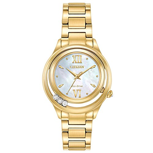 Citizen L Sunrise LS Mother of Pearl Stainless Steel Ladies Watch EM051258D