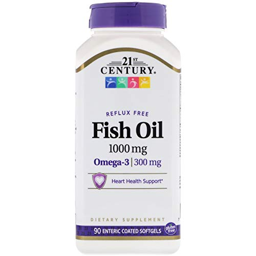 21ST Century FISH OIL 1000mg Contains 90 Enteric Coated Softgels