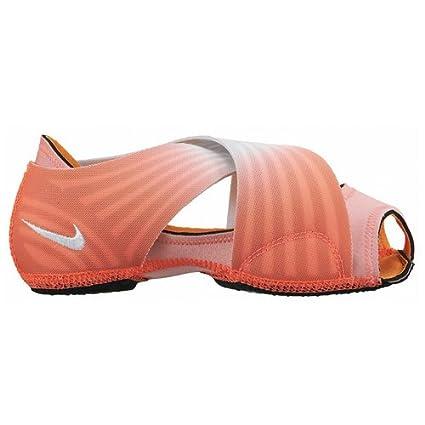Nike Zapatos Yoga, Envoltura de 3 Partes, para Mujeres, Lava Brillante/Platino