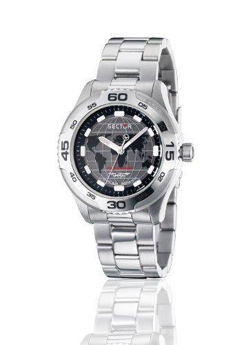 Sector R3253198025 45mm QuartzSilver Steel Bracelet & Case Acrylic Men's Watch