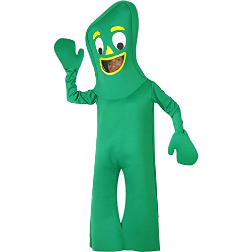 (BOS Child Green Clay Man Costume Size: Youth Large)