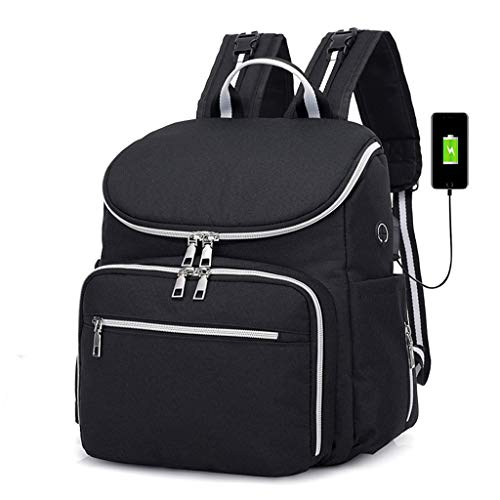 Price comparison product image BAJIAN-LI Canvas Lady Mommy Bag Two Pieces, Black