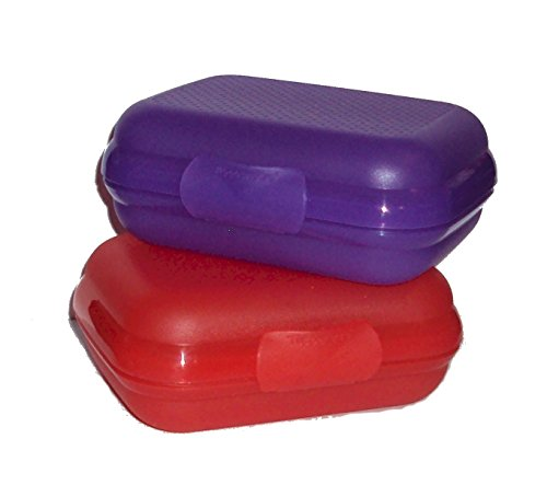 Tupperware Set 2 Packables Small Box Storage Container Oyste