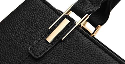 Mensajero large Bolso Las negro Elegante Señoras La Hombro Deeppink De Cuero Gris Manera Eeayyygch Mujeres X color Tamaño zdxaBqpB
