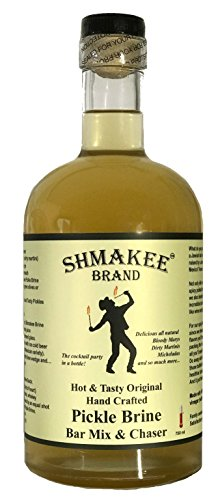 Shmakee Hot and Spicy Brewed Gourmet Pickle Brine Cocktail Mix and Chaser (made with 100% raw unfiltered apple cider vinegar) by Shmakee Brand