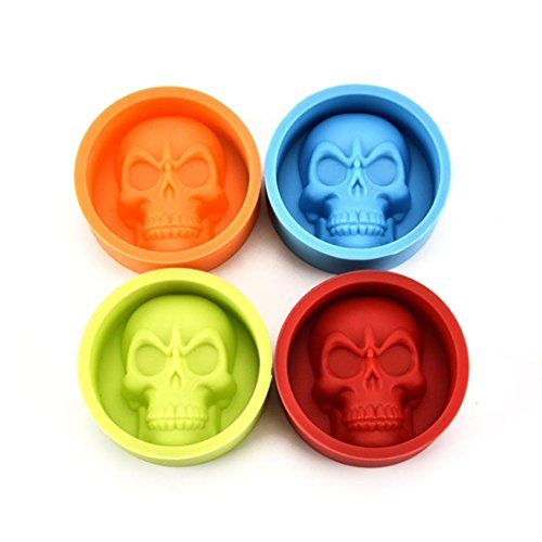 Mold Dish (Pop 3D Skull Mold for making Fondant Cake, Chocolate,and more, Food Grade Silicone)