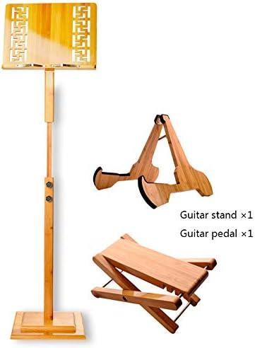 yjtypj - Atril para partituras (bambú, portátil, para Guitarra ...
