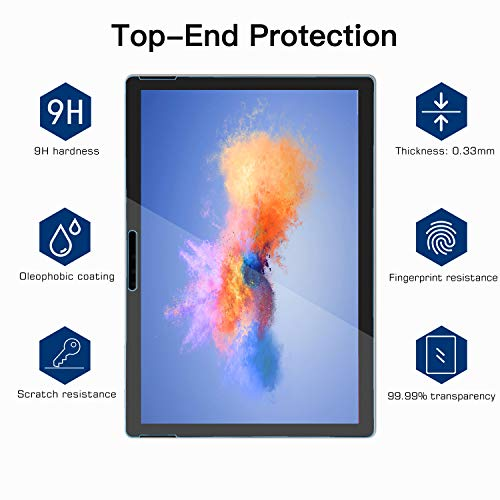 Microsoft Surface 1//2 Screen Protector Anti-Scratch Tempered Glass Oil-resistant