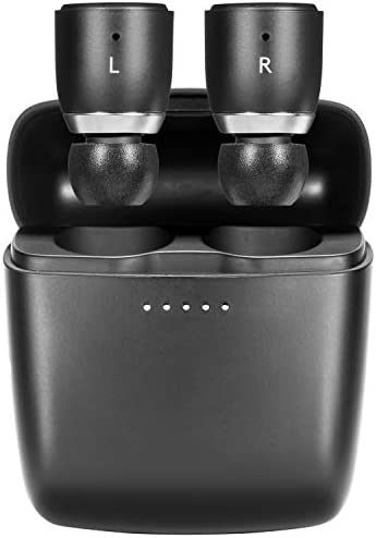 Cambridge Audio Melomania 1 Earbuds, True Wireless Bluetooth 5.0, Hi-Fi Sound, in-Ear Stereo Earphones for iPhone and for Android, with Portable Charging Case (Black)