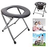 Folding Toilet Stool Portable Old Pregnant Women Sit Chair Travel Camping Lightweight MD Group