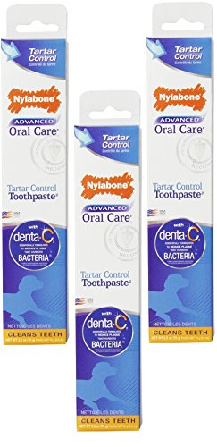 Nylabone Dental Advanced Oral Care Tartar Control Toothpaste (Pack of 3)