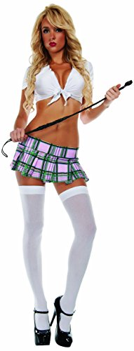 Starline Costumes Women's Sexy Schoolgirl Plaid Mini Skirt, Pink, -