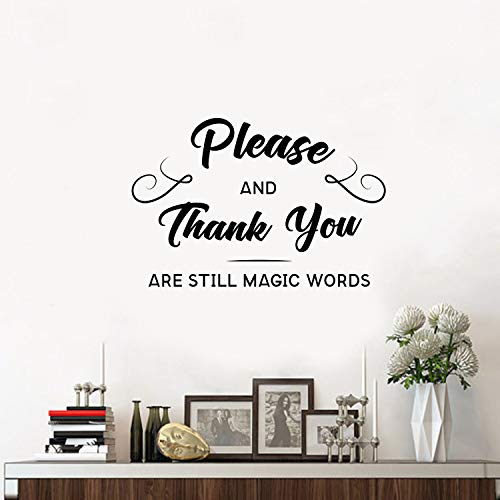 """Vinyl Wall Art Decal - Please and Thank You are Still Magic Words - 15"""" x 23"""" - Motivational Inspirational Quote - Living Room Bedroom Home Work School Wall Decor - Modern Trendy Removable Sticker"""