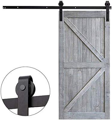 Fittyz 8FT 244cm Herraje para Puertas Correderas Kit para Puerta Corredera Granero con Capacidad de 100kg Riel para Puerta Corredera Granero (8FT 244cm): Amazon.es: Bricolaje y herramientas