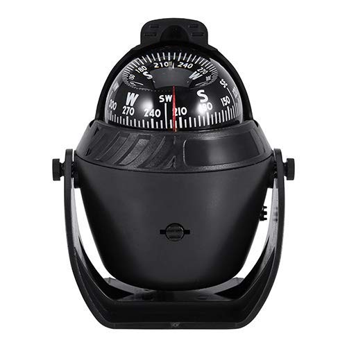 Compass Ball, Mini Compass Compact Ball Compass with Adhesive and Delicate Decoration,Black Incandescent Light Illuminated Marine Compass Suitable for Boat Ship And - Ball Decorations Compass