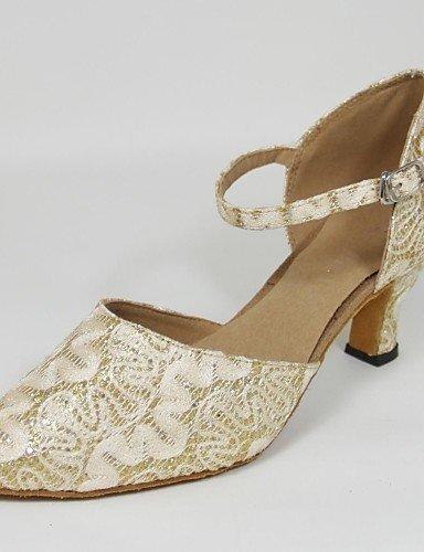 Absatz Standard ShangYi Schuhe Gold Damen Anpassbar Maßgefertigter Tanz Synthetik qfqIcwETxS