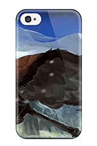 Cute Appearance Cover/tpu LTQFwaw12200epJmq Mountains Snow Guns Smoke Axes Open Mouth Dra Pixiv Fantasia Case For Iphone 4/4s
