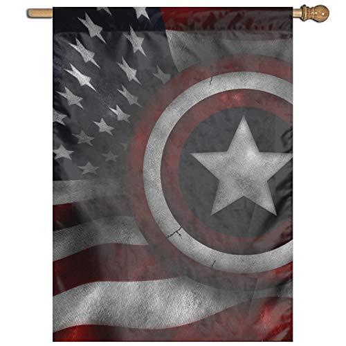 Captain America Garden Flag Polyester Outdoor Home Party -