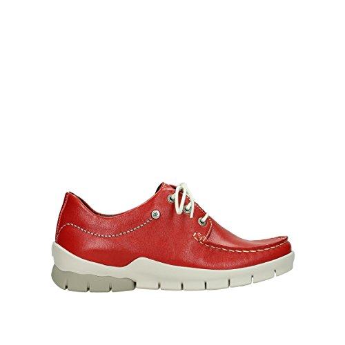 1750 Wolky 70570 Cordones Para de Rojo Mujer Zapatos 1xfdwxB4