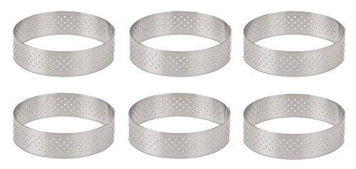 DeBuyer Valrhona Perforated Tart Ring - 4.25 inch