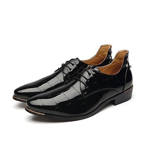 formale in d'affari pelle Shoes Scarpa Traspirante Oxfords stringate uomo Evening Primavera Lavoro Comfort lucide amp; Mocassini Party Driving Casual Scarpe XUE da UN Estate B51dBx