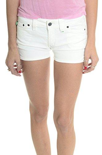 Grass LA Jeans Women's Stretch Cord/Corduroy Runyon Shorts, White, 27