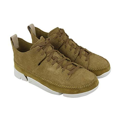 Nubuck Green (CLARKS Trigenic Flex Mens Green Nubuck Athletic Lace Up Training Shoes 10)