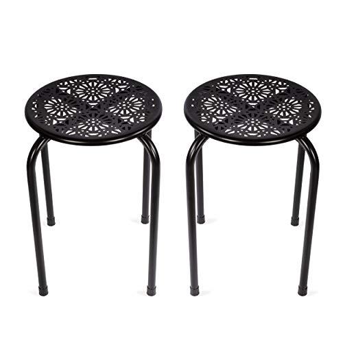 Dar Daisy Side Table/Stool  , Black