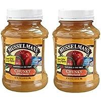 Musselman's CHUNKY Apple Sauce (Pack of 2) 24 oz Jars
