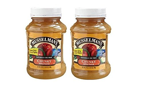 Musselman's CHUNKY Apple Sauce (Pack of 2) 24 oz Jars by Musselmans