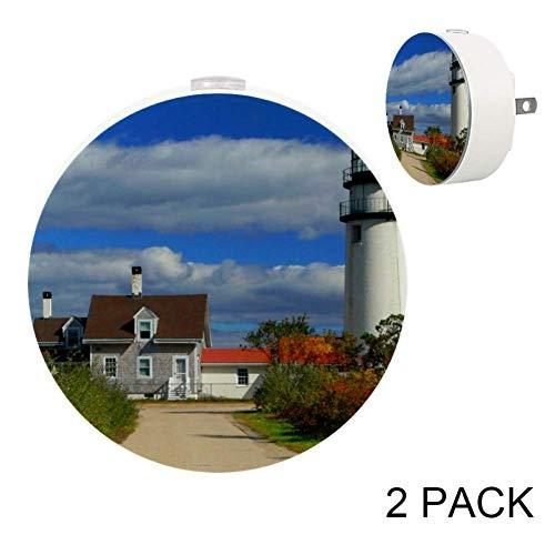 Highland_Lighthouse LED Night Light Sensor Lights Lamp for Bedroom, Hallway and Kitchen, Pack ()