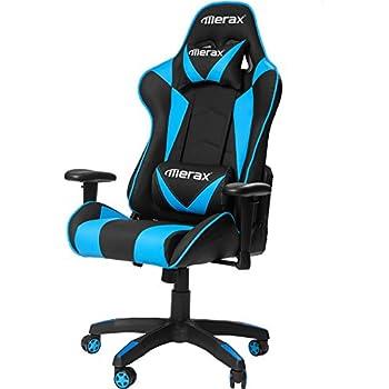 Merax Gaming Chair High Back Computer Chair Ergonomic Design Racing Chair (Blue)