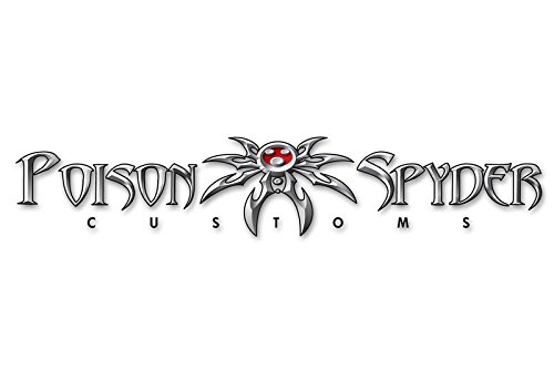 - Poison Spyder Customs, Inc. 51-46-032-w 3-1/2in Spyder Logo Decal, White