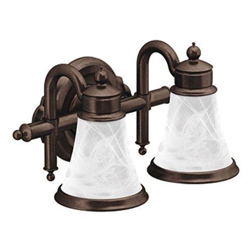 Moen YB9862ORB Waterhill Two Globe Bath Light, Oil Rubbed Bronze