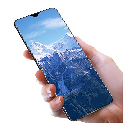 MLDTX Unlocked Smartphone Note30U+ (12GB+512GB) GSM Cell Phones, 4G Dual SIM Phone, 7.0-Inch HD Display Android 10.0, Face Recognition,GSM(The Best Gift for Parents and Children) (Color : Blue)